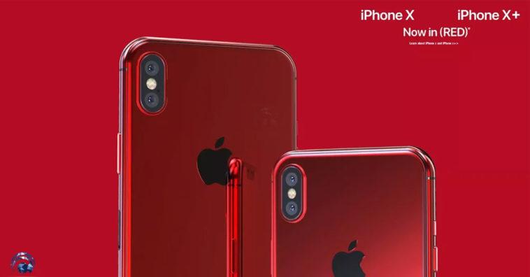 Iphone X X Plus Red Concept