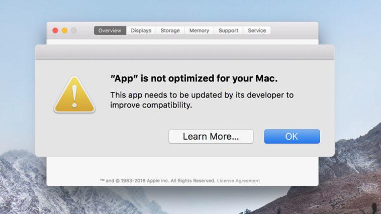 Macos 32 Bit App Warning