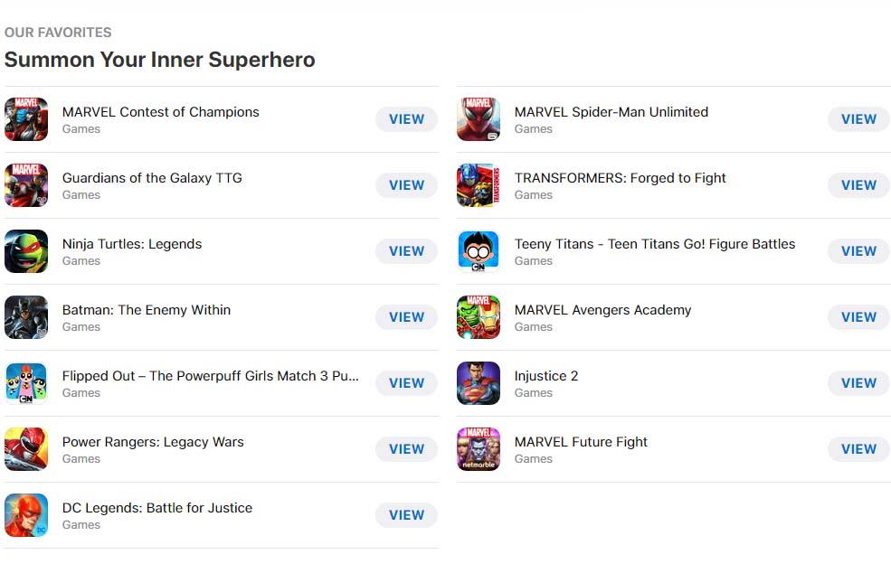 Superhero Mobile Games Cover2