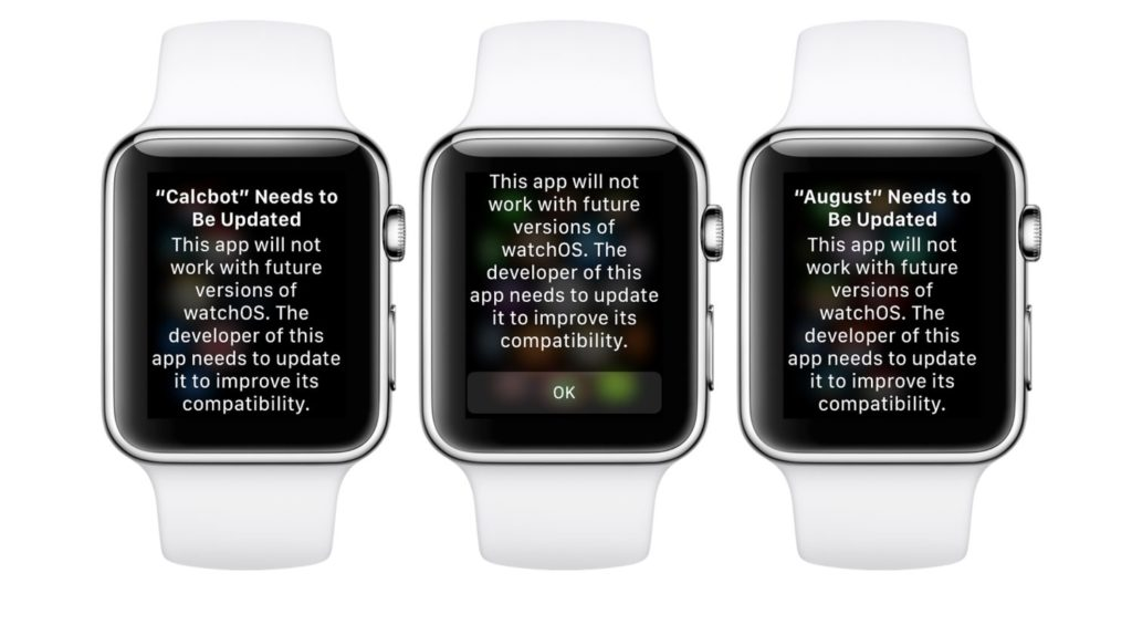 Watchos 4 3 1 Warning Old Apps 1
