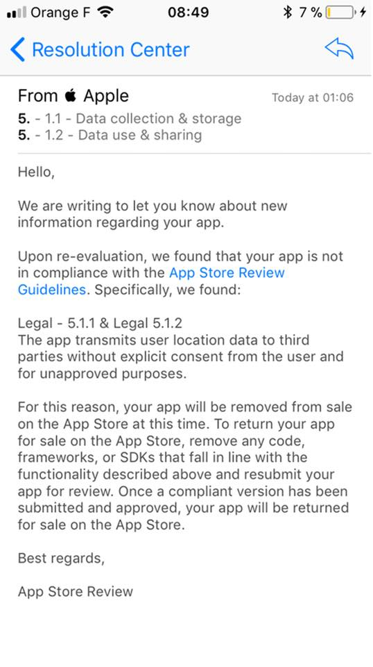 Apple Cracking Down Location Apps Third Parties 1
