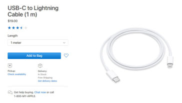 Apple Drop Usbc To Lightning Cable Price
