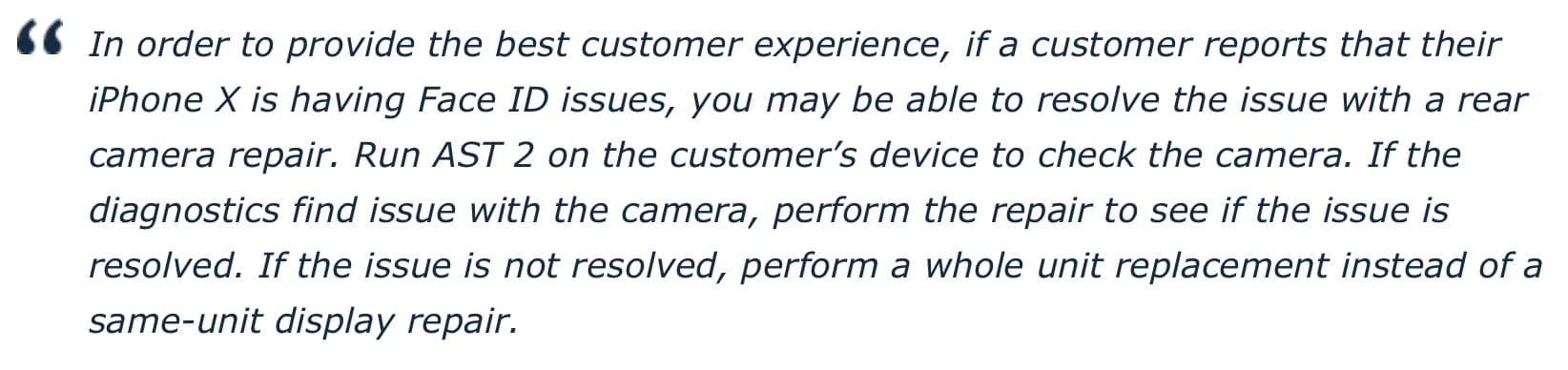 Face Id Repair Policy