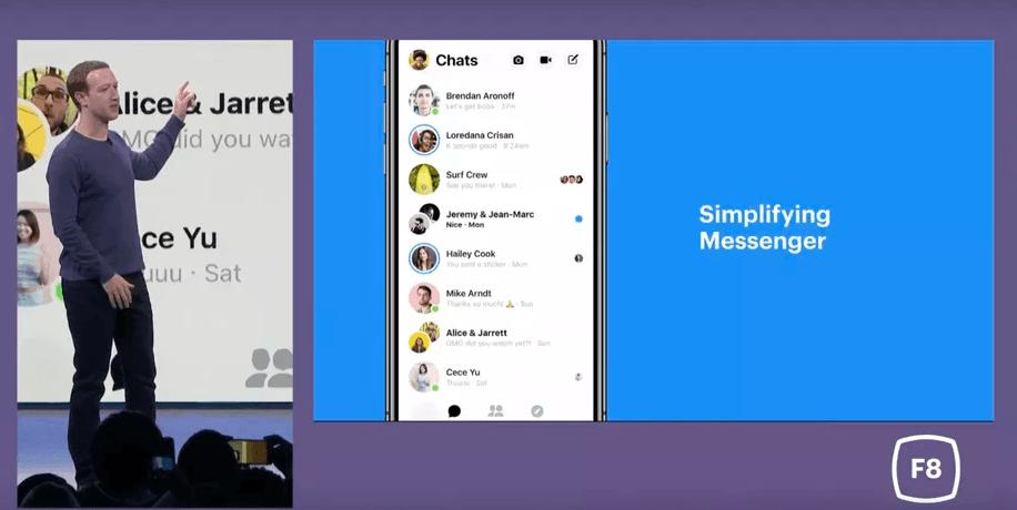 Facebook Redesign Messenger App 1