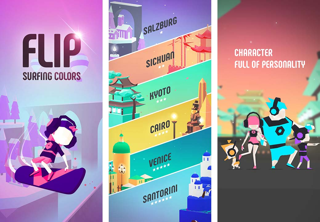 Game Flip Surfing Colors Content1