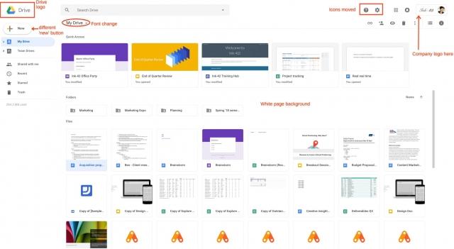 Google Drive Ui Change Like Gmail 2