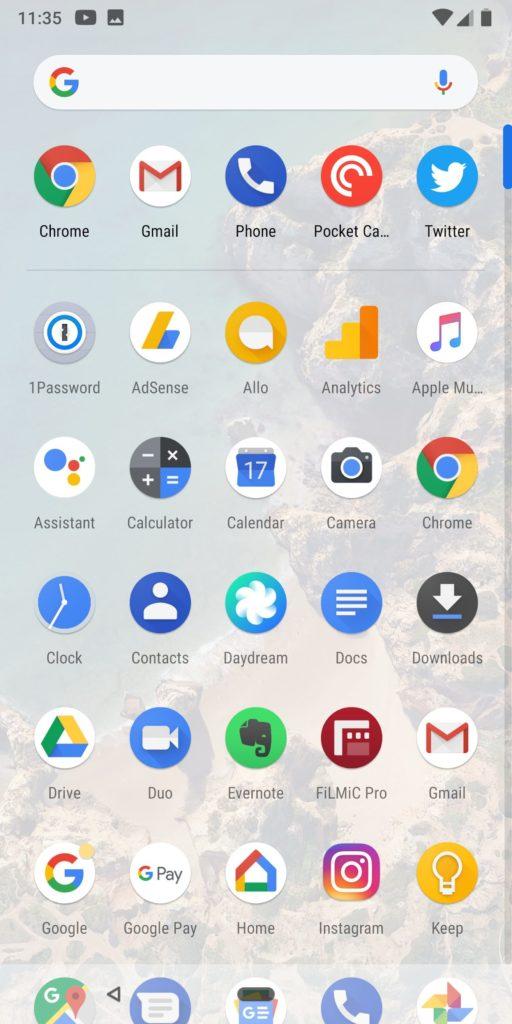 Google Pixel 2 Xl App Drawer
