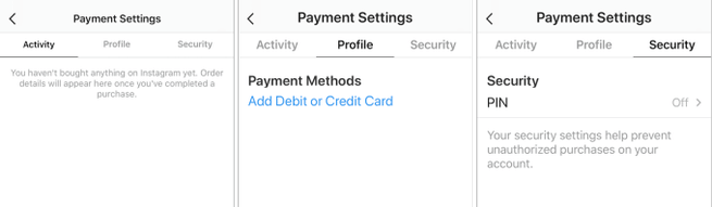 Instagram Payments Settings New Feature 1