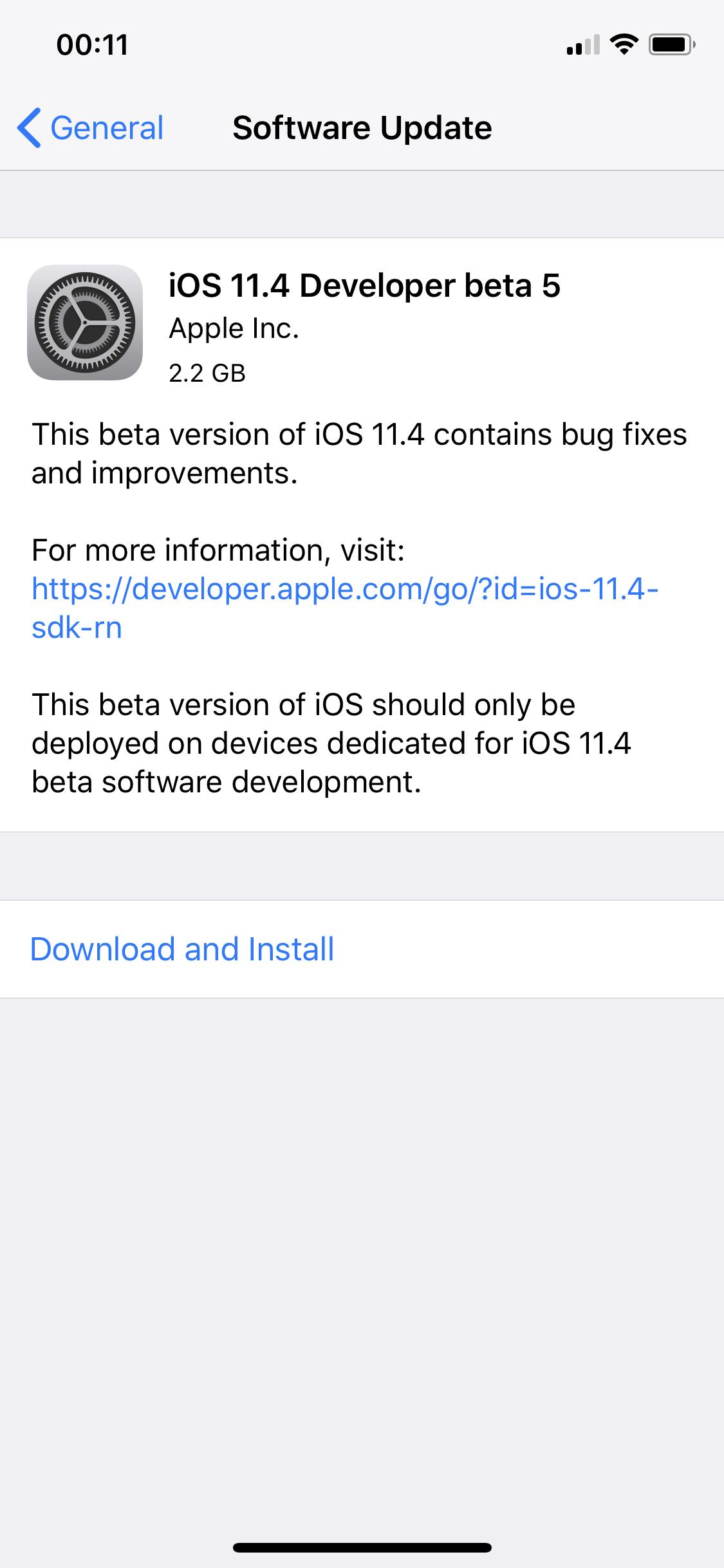 Ios 11 4 Beta 5 Download