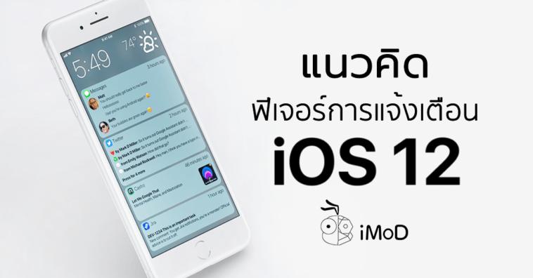 Ios 12 Notification Group Concept