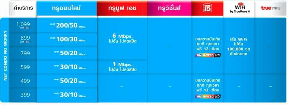 True Online Net Condo No Worry 2