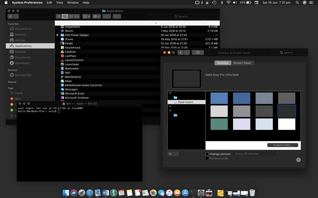 วิธีเปิด Dark Mode ในระบบปฏิบัติการ macOS High Sierra