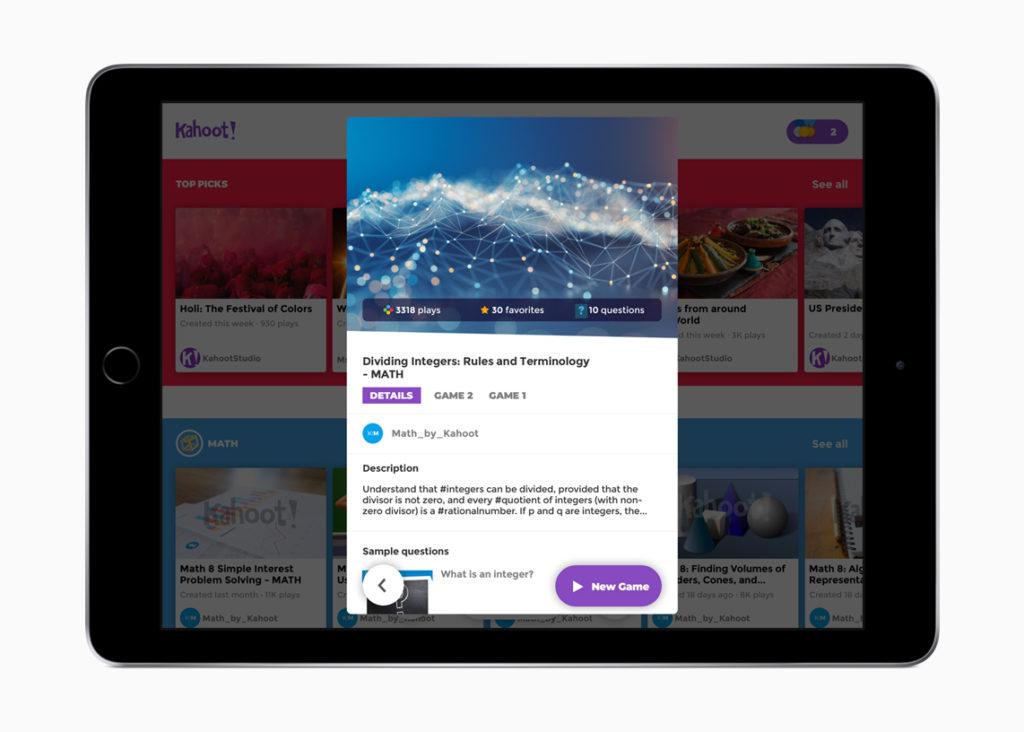 Schoolwork Kahoot Apps 062618