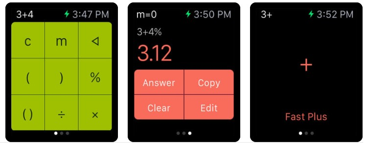Apple Watch Daily Life App Calculator Plus