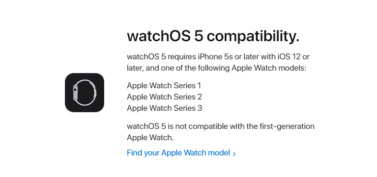 Compatibility Watchos5 Apple Watch 1
