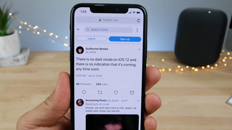Darkmode Not Comming Ios 12