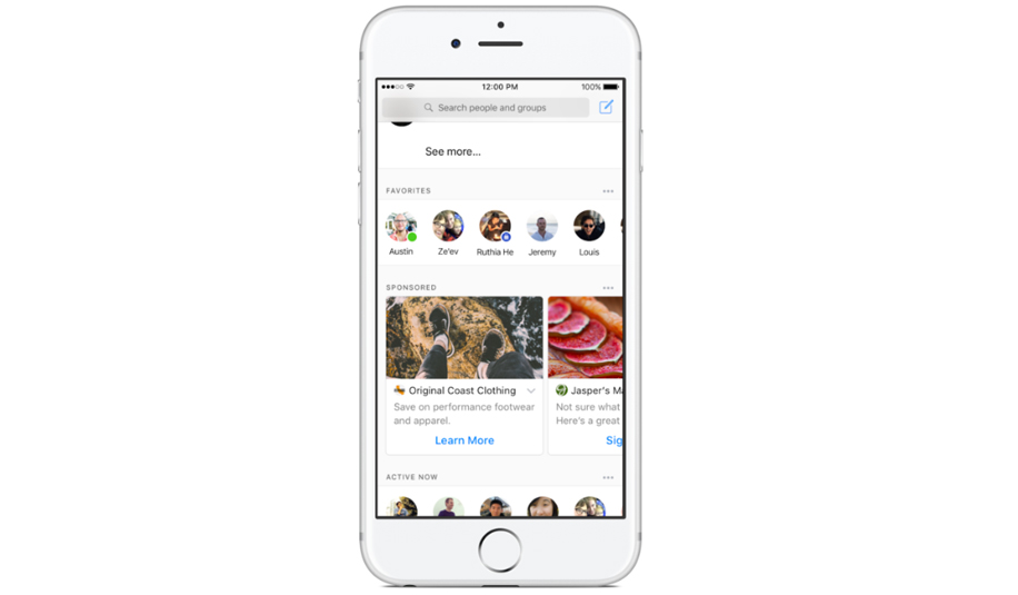 Facebook Rolling Video Ads Messenger 1