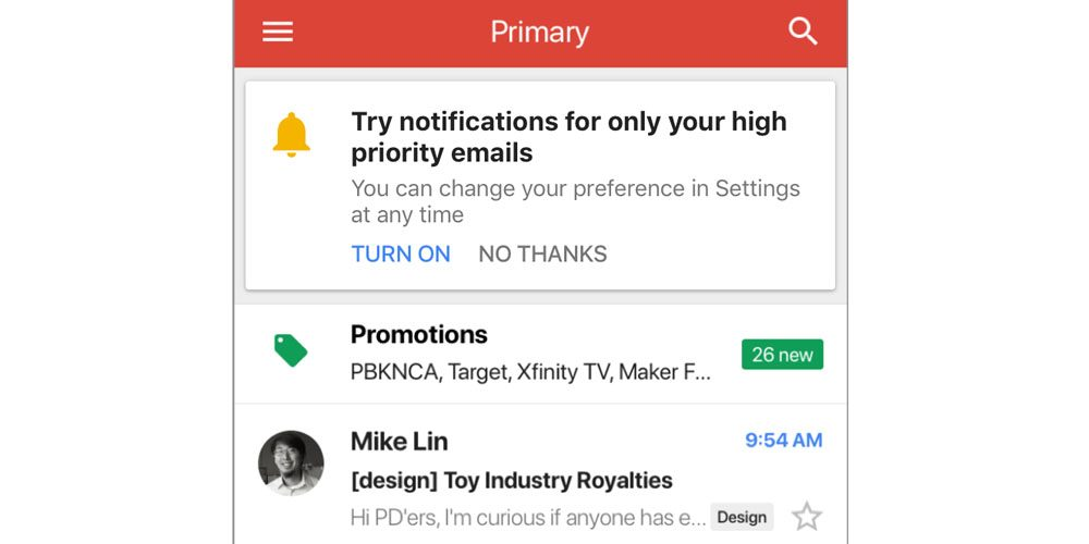 Google Release Notification High Priority Email Gmail 1