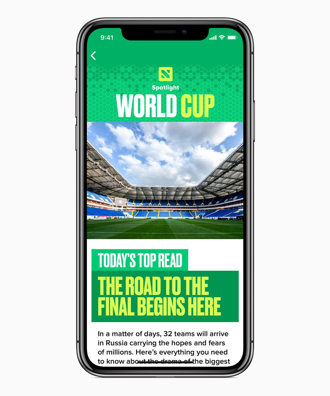 Iphone X World Cup News App Screen 1 06112018