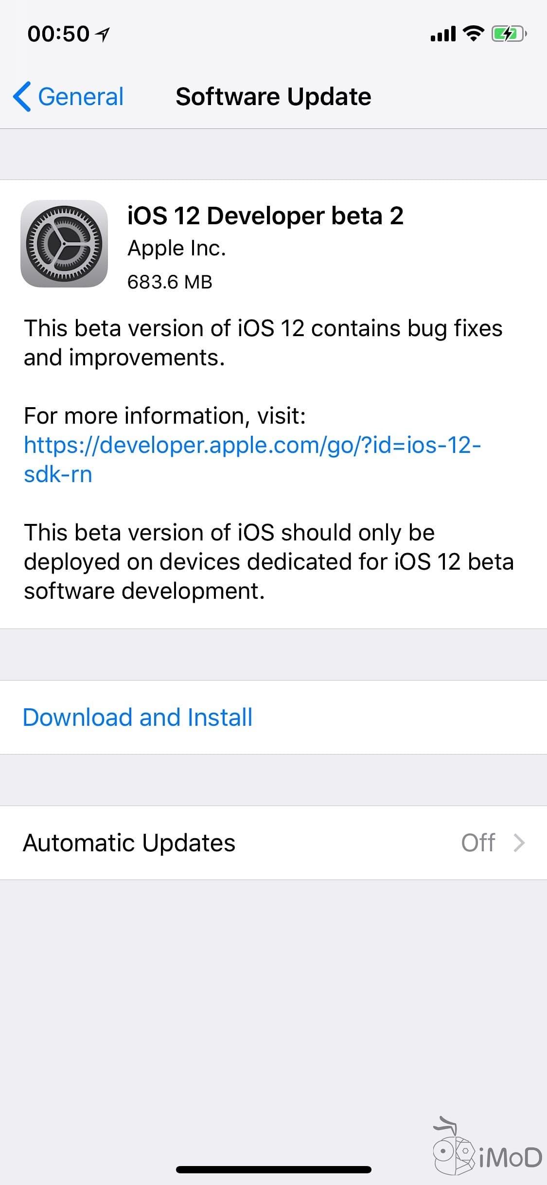 Ios 12 Developer Beta 2