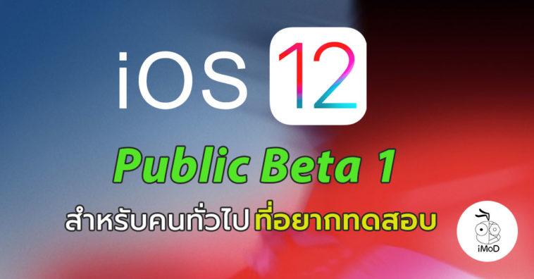 Ios 12 Public Beta 1 Seed Cover