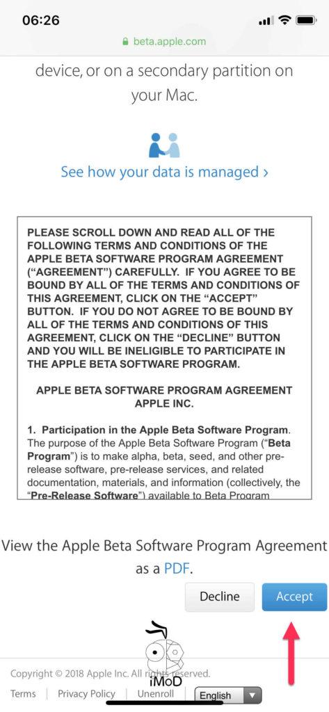 Ios Public Beta Install 003
