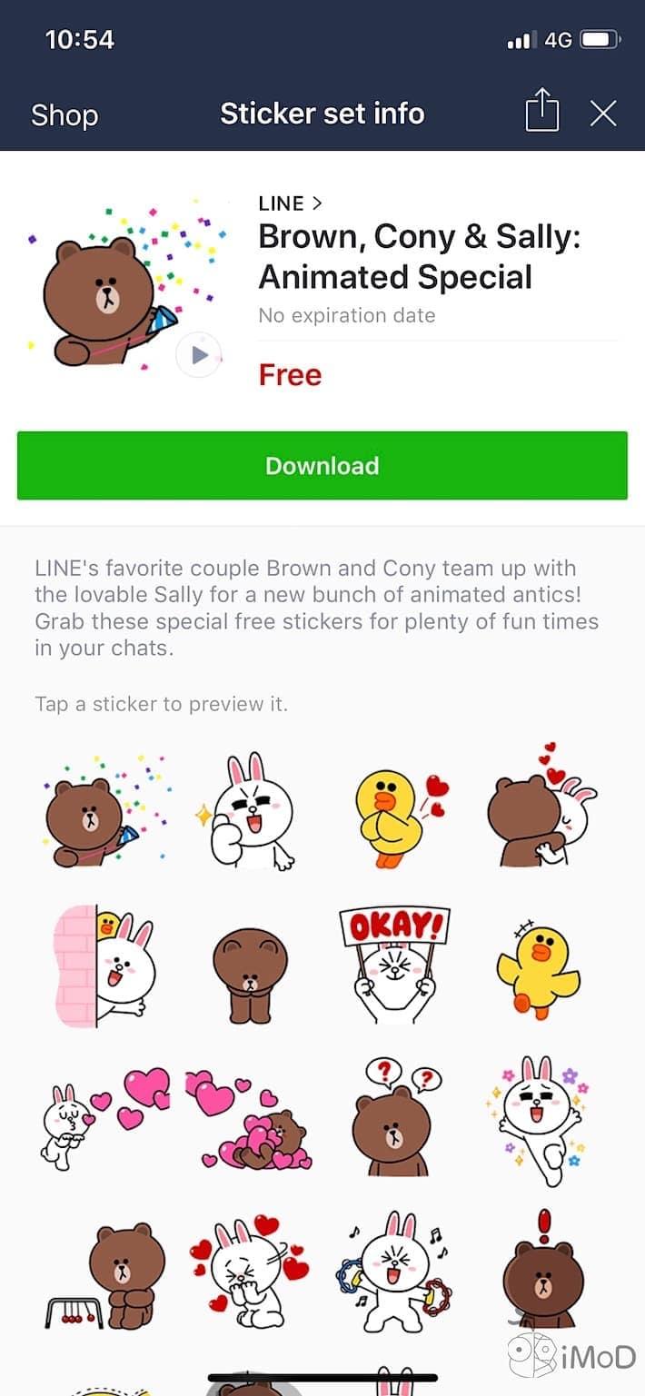 Line Sticker Free Jun2018 1