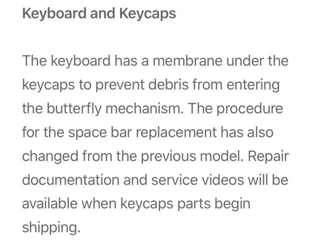 Apple Confirms Macbook Pro 2018 With Membrane Under Keyboard Prevents Debris 1