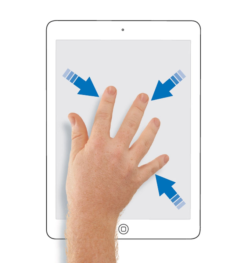 How To Use Ipad Gesture 4 5 Fingers 2