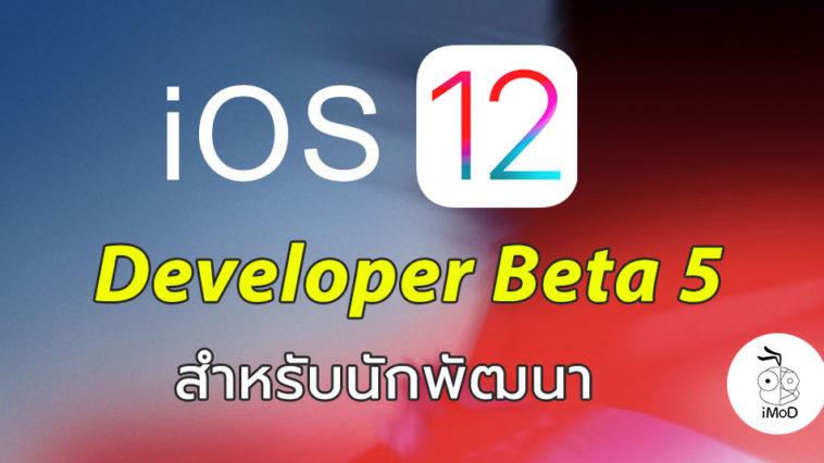 Ios 12 Developer Beta 5 Seed