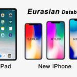 Iphone 2018 More Two Ipad Model Eurasian Database Registered