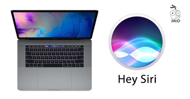 Macbook Pro 2018 Hey Siri 1