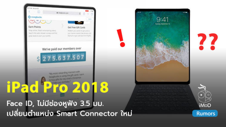 Macotakara Ipad Pro 2018 No Headphone Jack Faceid Reloacate Smartconnector