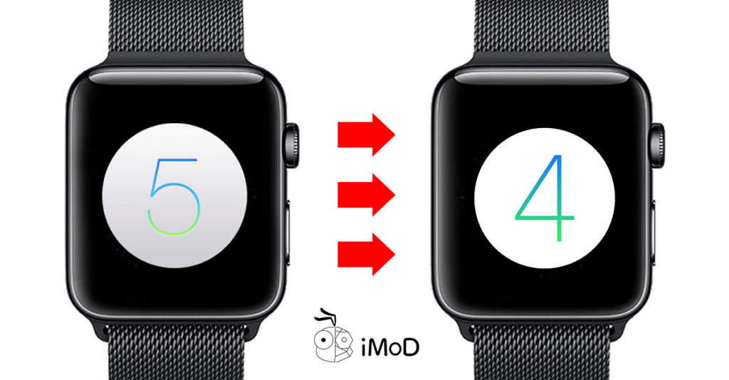 Why Cannot Downgrad Watchos Apple Watch 1