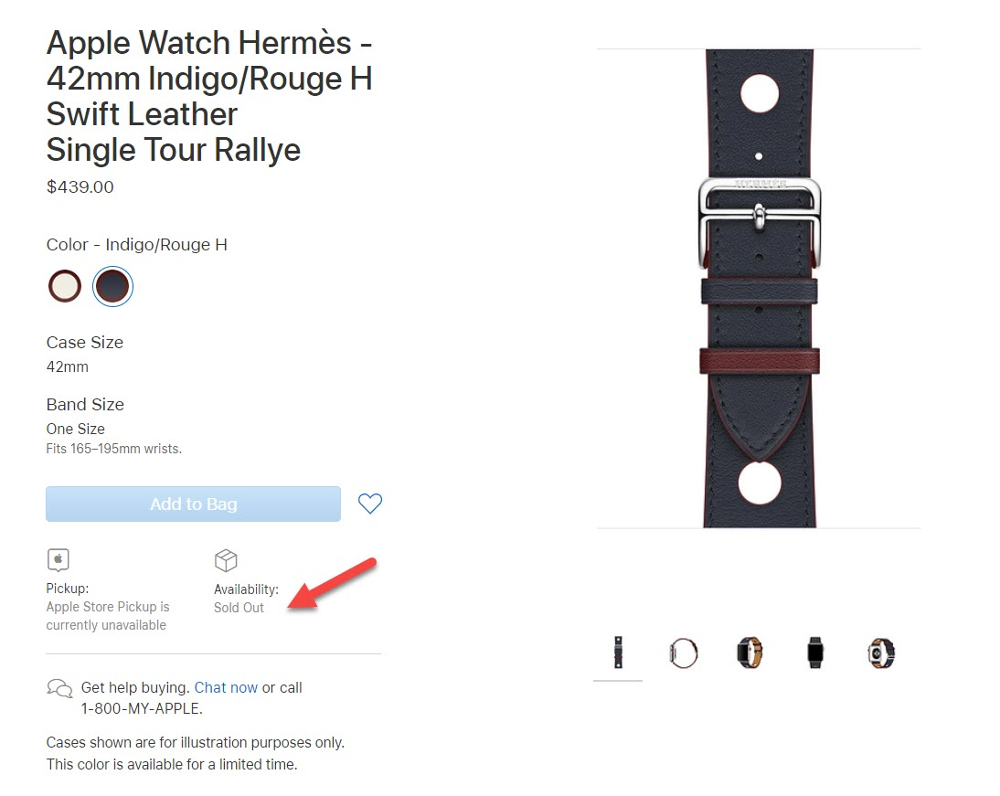 Apple Removes 14 Apple Watch Bands Aug 2018 2
