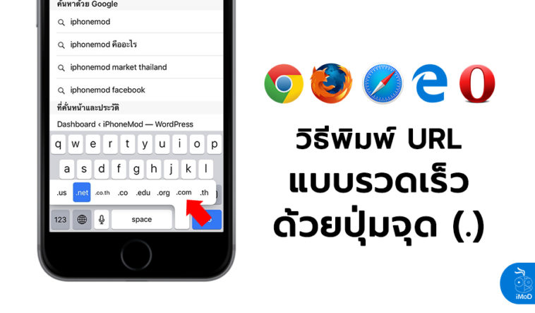How To Quick Type Url By Dotted Iphone Ipad