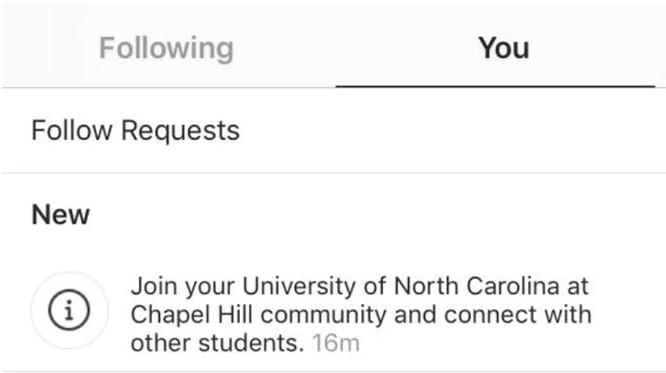 Instagram Testing Community College Group 1