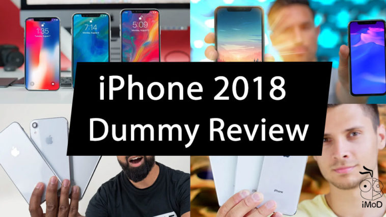 Iphone 2018 Dummy Model Preview By Youtuber