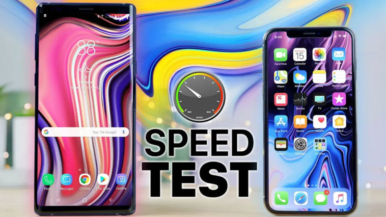 Iphone X And Galaxy Note 9 Speed Test