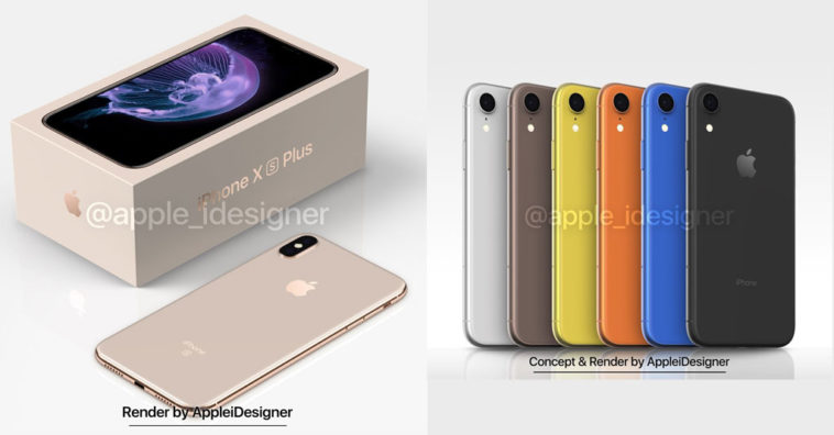Iphone X Plus And Iphone 2018 Render By Appleidesigner