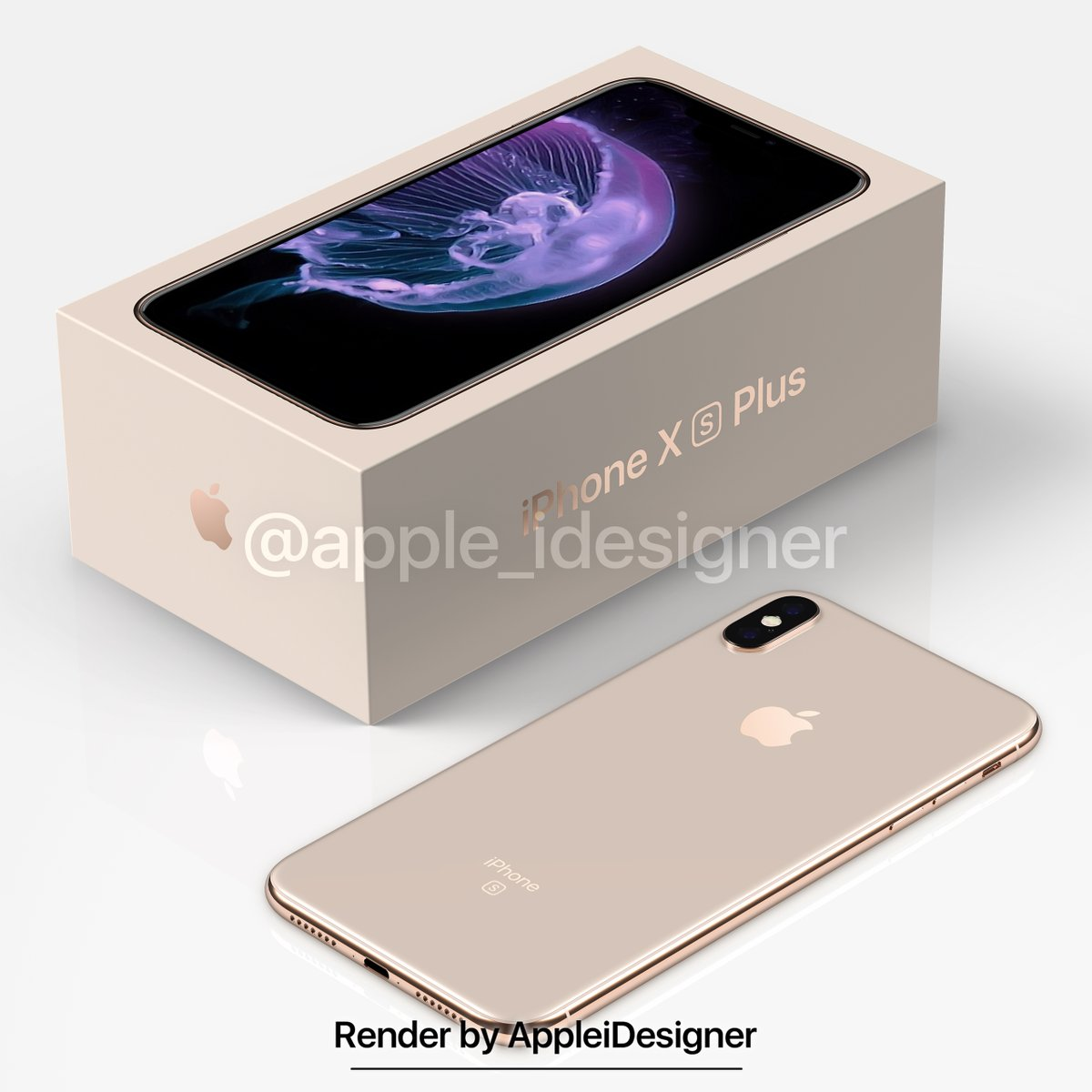 Iphone X Plus Render By Appleidesigner 1
