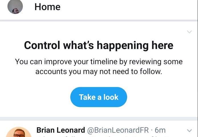 Twitter Test Unfollow Suggestion Feature 1