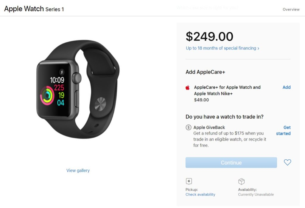 Apple Watch Series 1 And Series 3 Many Model Short Supply In Us 1