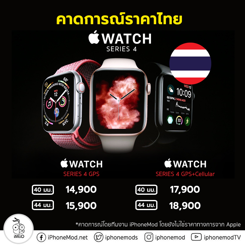 Apple Watch Series 4 Expect Thailand Price