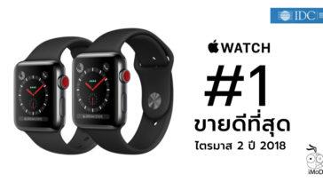 Apple Watch Top Global Wearables Market Q2 2018 Idc Report