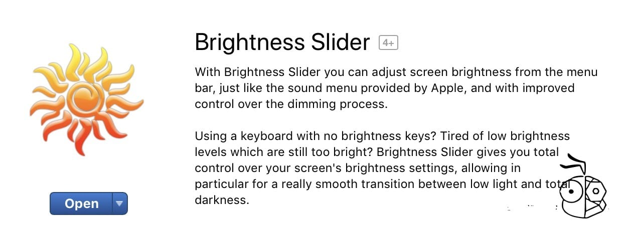 Brightness Slider Mac App Store