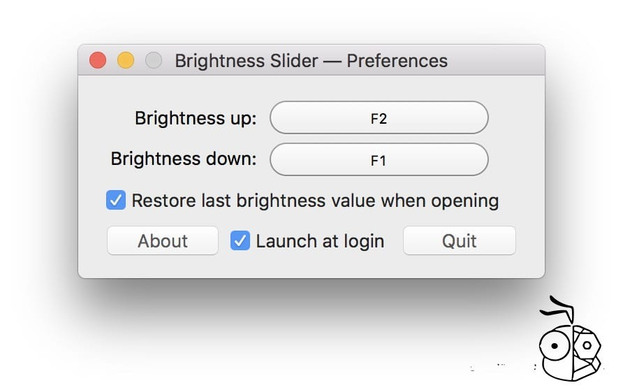 Brightness Slider Shortcut