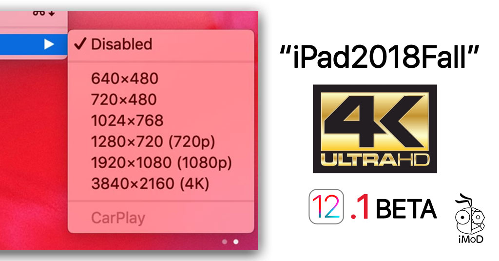 Ios 12 1 Beta Ipad Pro 2018 Support 4k By Usb C