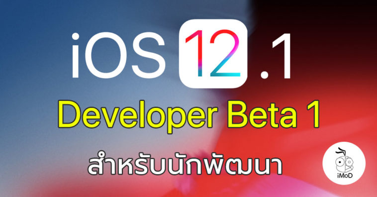 Ios 12 1 Developer Beta 1 Seed