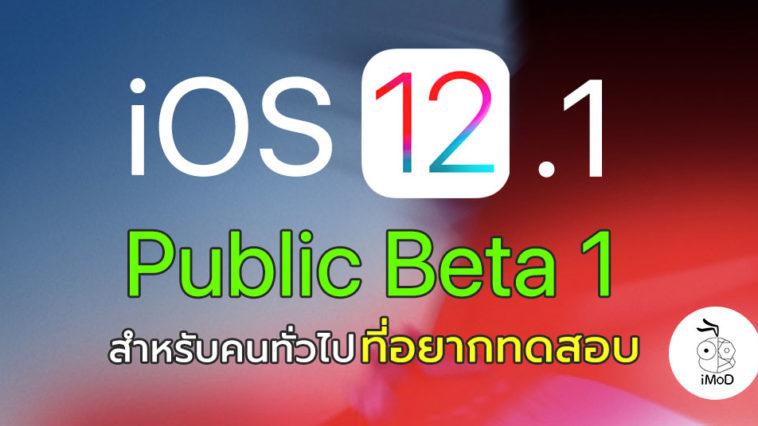 Ios 12 1 Public Beta 1 Seed
